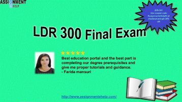 LDR 300 Final Exam|30 Questions And Answers free|UOP