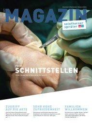 MAGAZIN Solothurner Spitäler 1/2017