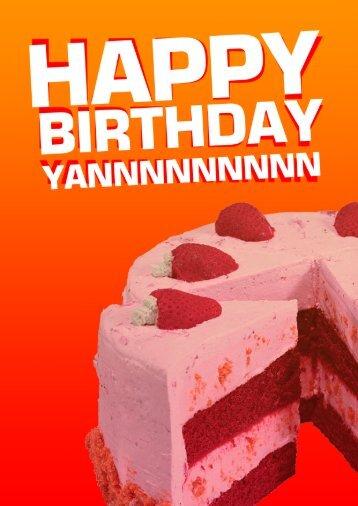 yan birthday card