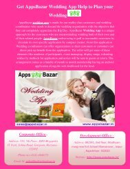 Get AppsBazar Wedding App Help to Plan your Wedding