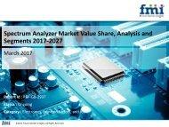 Spectrum Analyzer Market Dynamics, Segments and Supply Demand 2017-2027