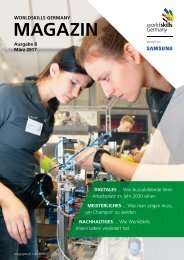 WorldSkills Germany-Magazin - Ausgabe 8 - März 2017