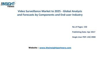 Global Video Surveillance Industry Opportunities, Key Developments and Forecast to 2025 |The Insight Partners