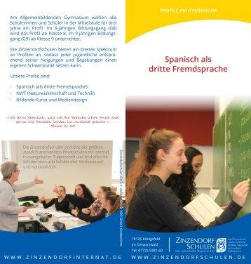 Profil Spanisch als dritte Fremdsprache