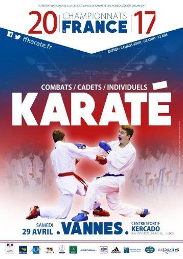 Programme Championnat de France Cadets