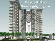 Kolte Patil Illiquis in Bangalore - Call: 7289089451 and Book