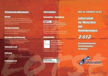 2012 - Lotsen/Lotsinnen für Menschen mit Behinderungen NRW