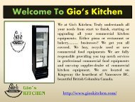 Wholesale Restaurant Equipment Vancouver |gioskitchen