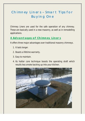 Chimney Liners – Smart Tips for Buying One