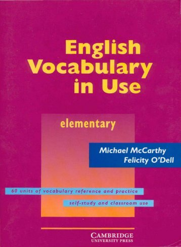Cambridge University Press - English Vocabulary in Use (Elementary)