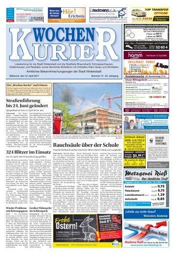 Wochen-Kurier 15/2017 - Lokalzeitung für Weiterstadt und Büttelborn