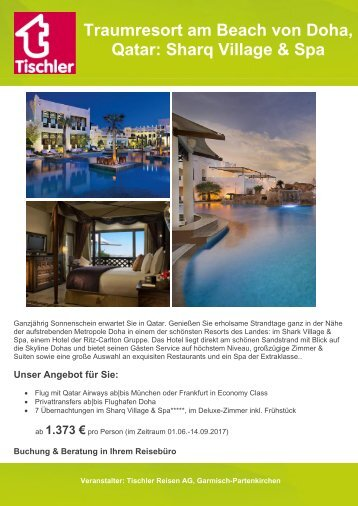 Traumresort am Beach von Doha, Qatar: Sharq Village & Spa