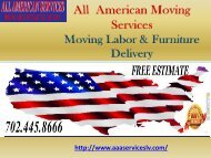 Local Moves in Las Vegas| All American Services
