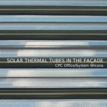 SOLAR THERMAL TUBES IN THE FAÇADE