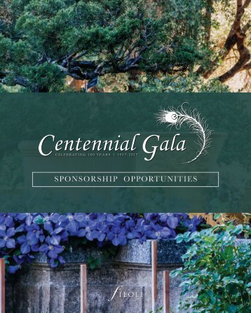 Centennial Gala Sponsorship Opportunities Booklet
