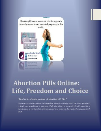 Abortion Pills Online Life, freedom and choice
