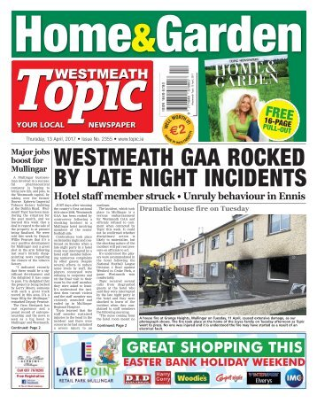 Westmeath Topic - 13 April 2017