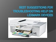 Best Suggestions for Troubleshooting Help on Lexmark Devices