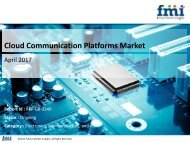 Cloud Communication Platforms Market: In-Depth Market Research Report 2017-2027