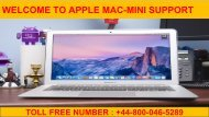 Applemactechnicalsupportnumber-mac-mini-support