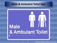 Male & Ambulant Toilet Sign - Braille Sign Distributors