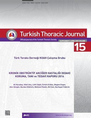 Kronik Obstrüktif Akciğer Hastalığı (KOAH) Koruma, Tanı ve Tedavi Raporu 2014