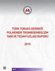 Türk Toraks Derneği Pulmoner Tromboembolizm Tanı ve Tedavi Uzlaşı Raporu (2015)
