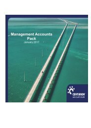 Management Accounts Jan 2017