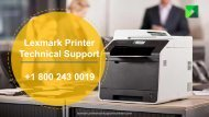 Lexmark Printer Support Phone Number +1-800-243-0019   Lexmark Support