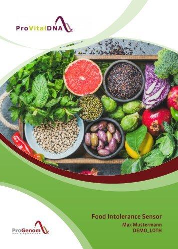 Food Intolerance Sensor - IgG Nahrungsmittel-Immuntest - DEMO DE