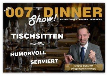 Infos 007 Dinner Show
