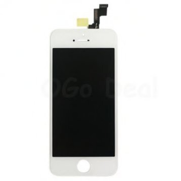 For Apple iPhone 5S Digitizer and LCD Screen Assembly with Frame Replacement - White TM