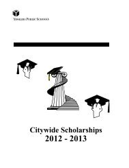 of Scholarship Applications - Yonkers Public Schools