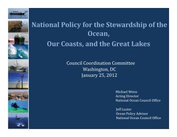 National Policy for the Stewardship of the Ocean - National Marine ...