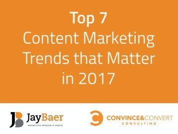 Top 7 Content Marketing Trends that Matter in 2017
