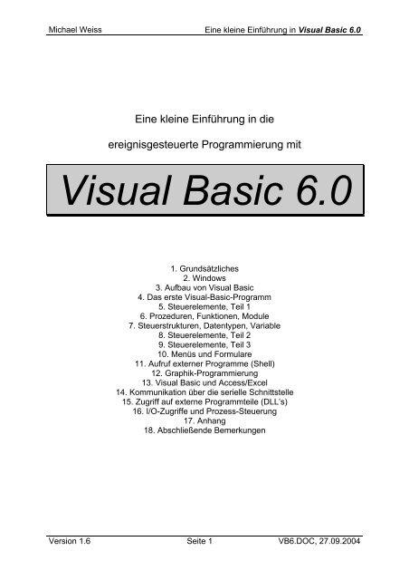 Visual Basic Datentypen
