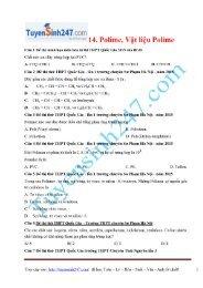 2850 Bài tập môn Hóa học phân dạng theo từng chuyên đề có lời giải chi tiết tuyensinh247 thực hiện 2015 (Dạy Kèm Quy Nhơn Official sưu tầm và giới thiệu)