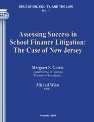 Assessing Success in School Finance Litigation - Campaign for ...