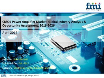 CMOS Power Amplifier Market Expected to reach US$ 5000 Mn, 2026