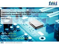 Cognitive Systems Spending Market will expand at a healthy CAGR of 14.6%,2016-2026