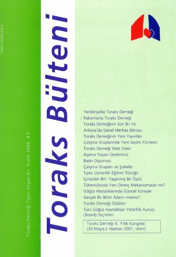 Toraks Bülteni - Aralık 2000, 4(5)