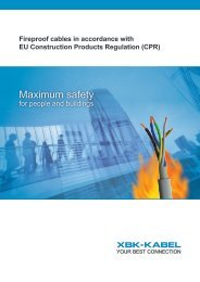 Fireproof cables in accordance with EU CPR