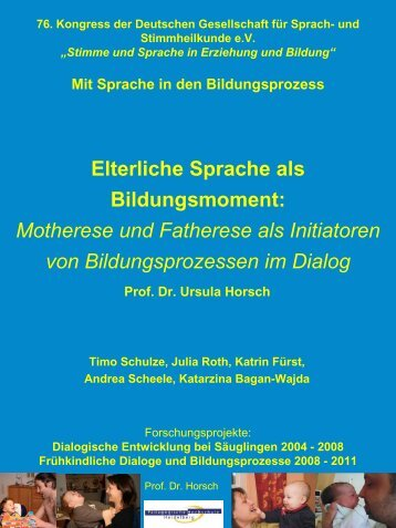 Frühe Dialoge – Frühe Bildungsprozesse - Mangold International