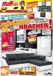 Rolli SB Möbelmarkt - Frühlings-Kracher! Jeder Preis ein Treffer!