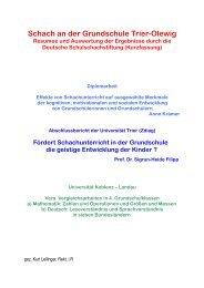 Schach an der Grundschule Trier-Olewig - Michael Weiss ...