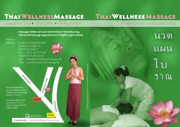 Traditionelle Thaimassagen und Wellness-Massage in Düsseldorf