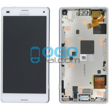 For Sony Xperia Z3 CompactZ3 Mini LCD & Digitizer Touch Screen Assembly With Frame - White