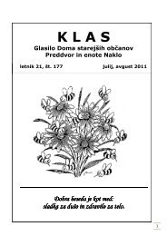 KLAS - julij in avgust 2011