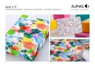 JUNG Geschenkpapier Kollektion 2017