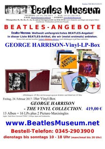 Beatles Museum - Katalog 71 mit Hyperlinks